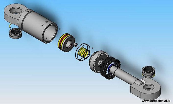 Hydraulic Cylinder Design : Conception de la bouteille burnside hydracylburnside